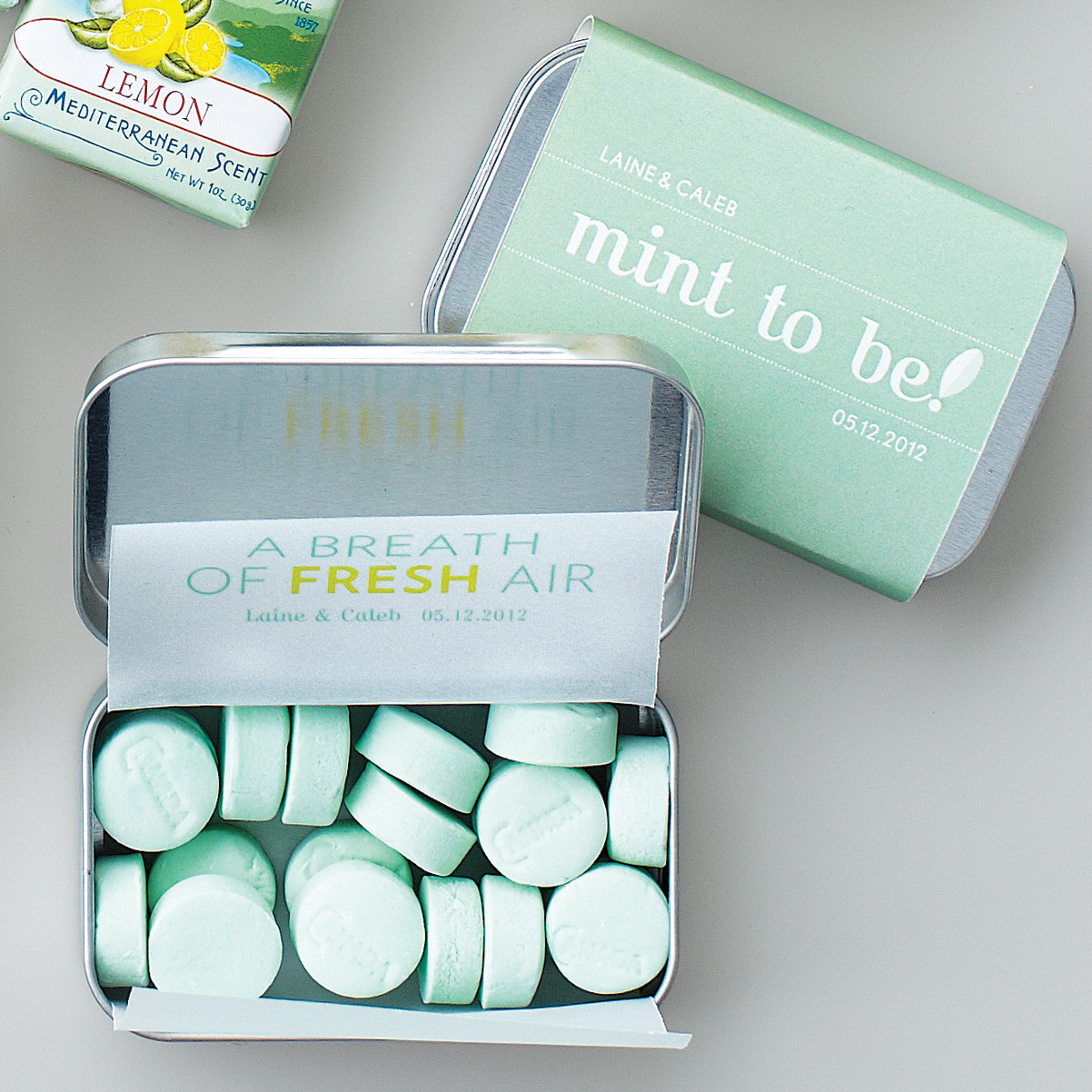 mint tin favor wrapper and lining template