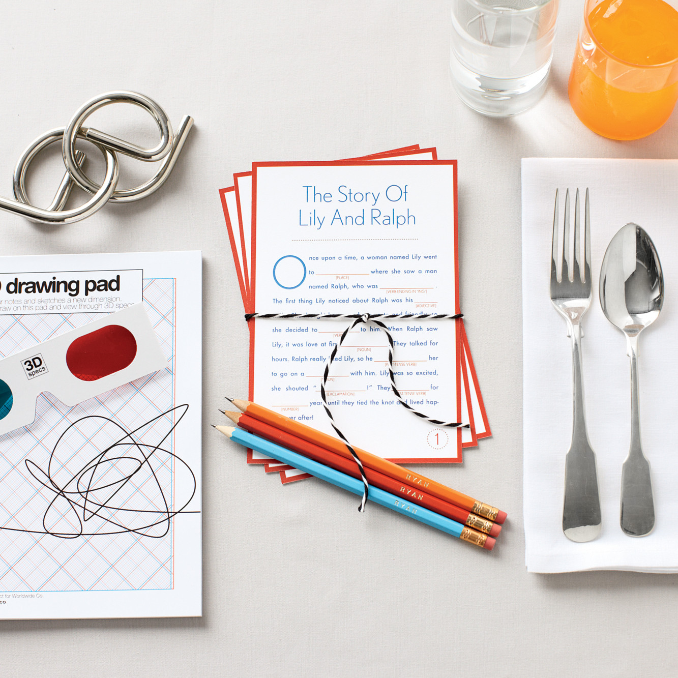 Wedding Favor Kit for Kids: Fill-In-the-Blank Story Cards | Martha ...