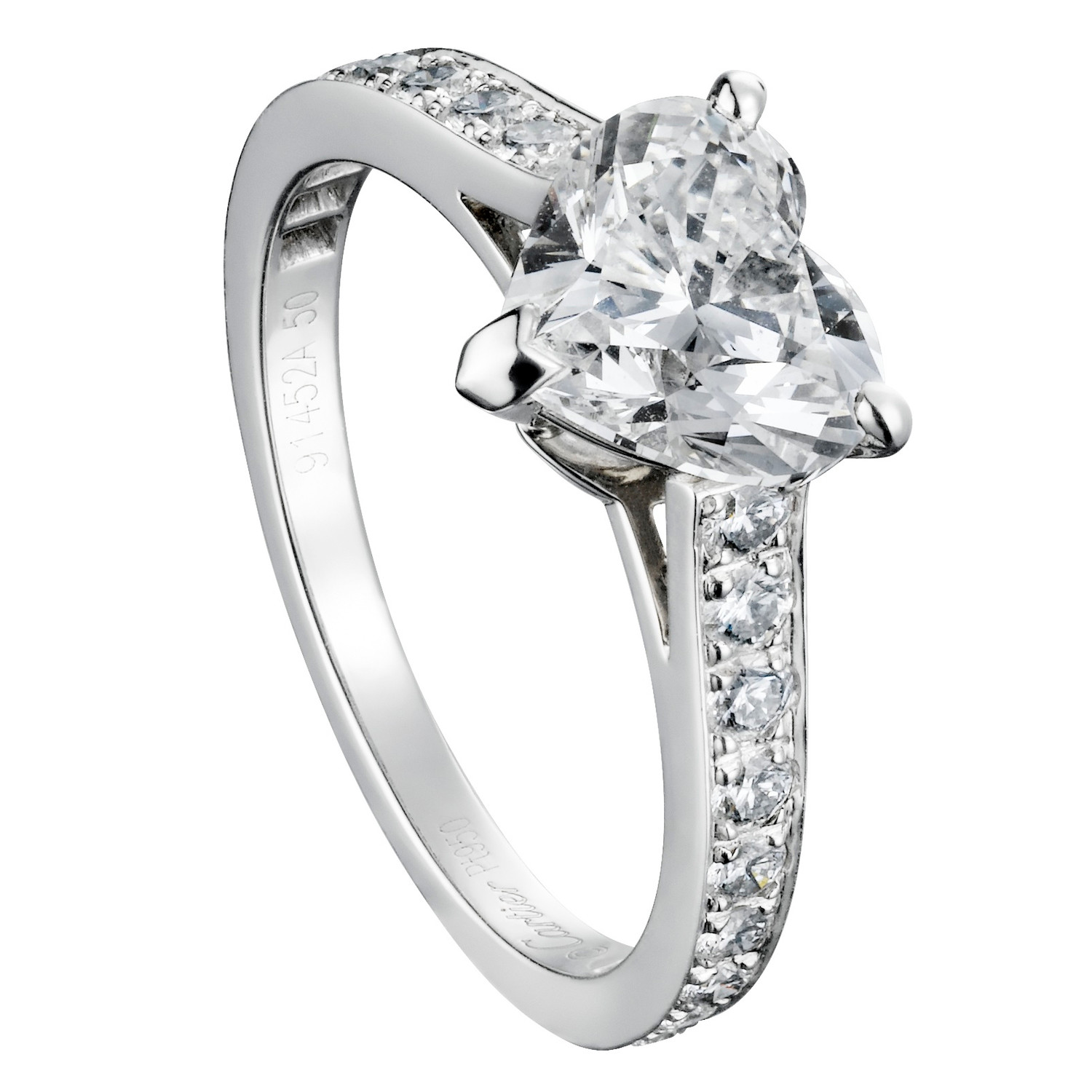 Heart-Shaped Engagement Rings