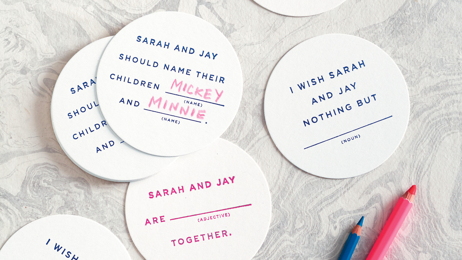 Make Your Wedding Programs More Fun with Mad Libs! | Martha Stewart