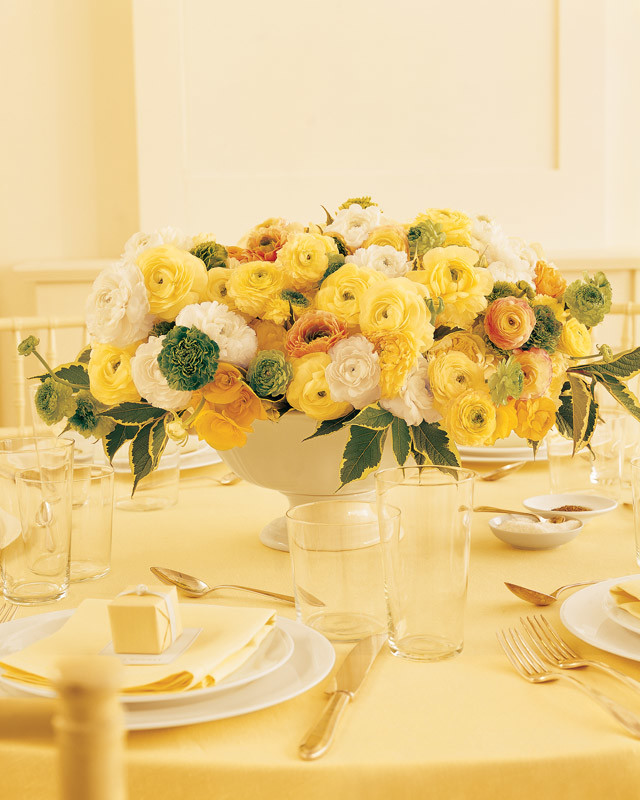 Flower Table Arrangements For Weddings: Martha Stewart Weddings