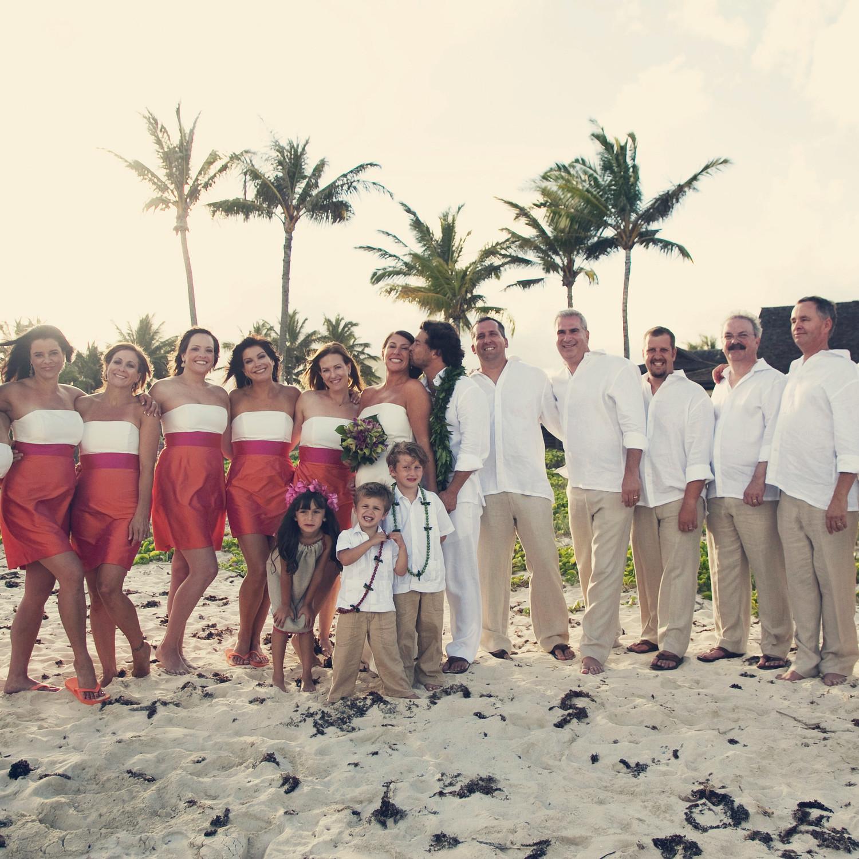 A traditional hawaiian destination wedding in maui martha an orange and fuchsia outdoor destination wedding in hawaii junglespirit Gallery