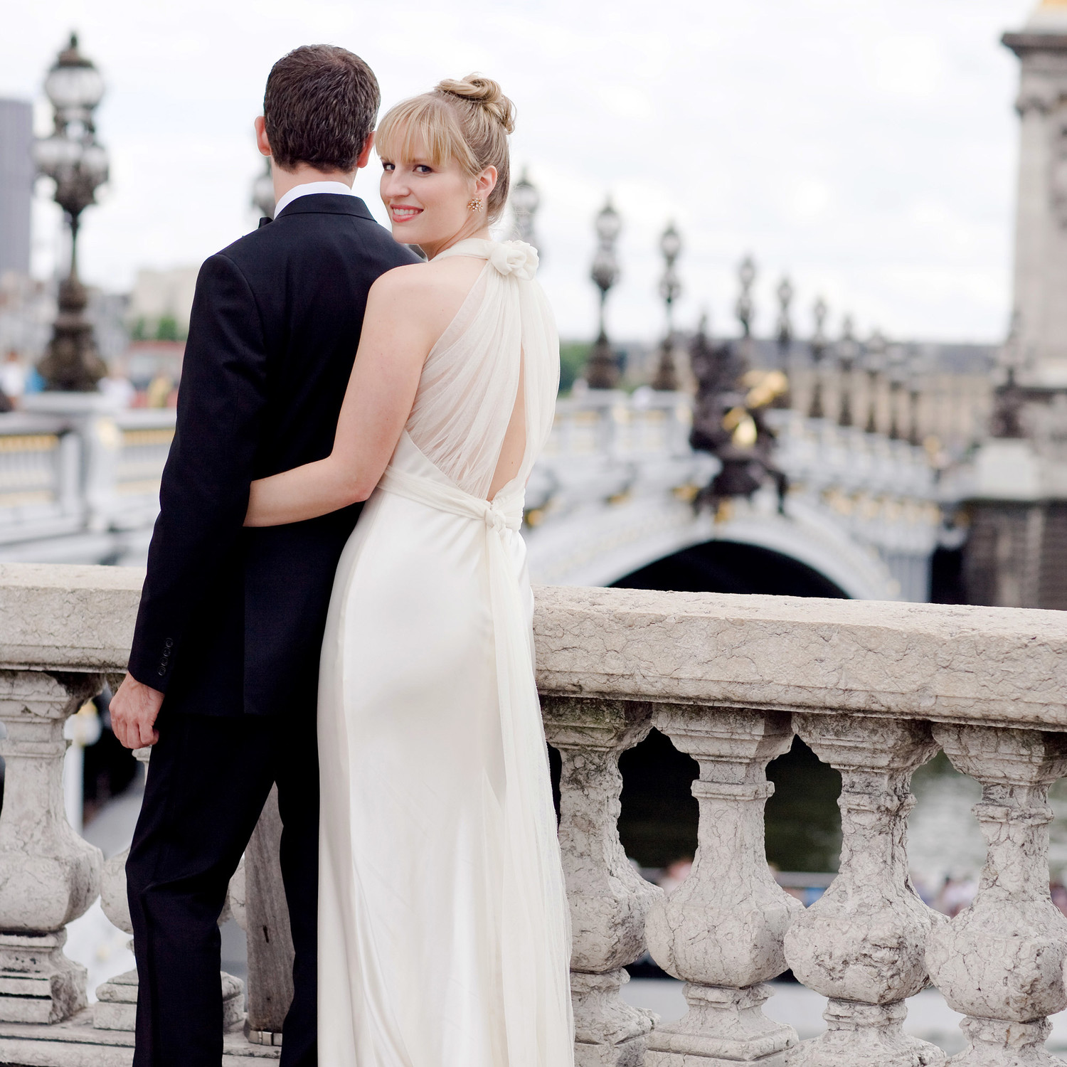 A Formal Black and White Destination Wedding in France