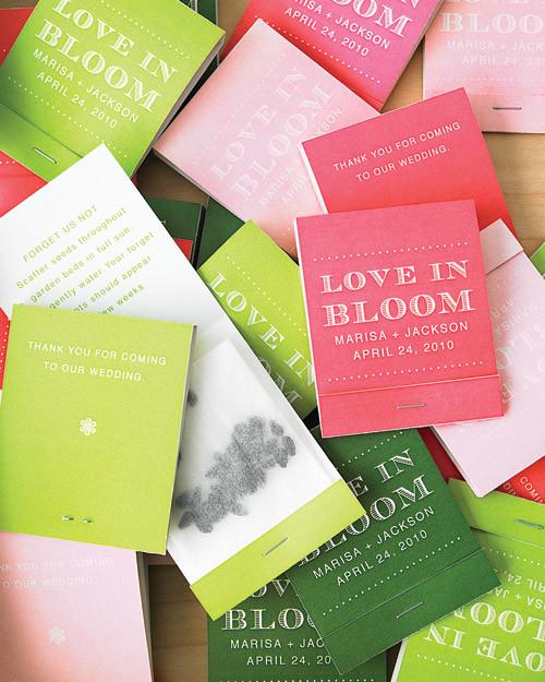 Seed Matchbook Favors How To Martha Stewart Weddings