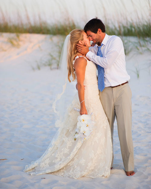 A Vibrant Wedding On The Beach In Florida Martha Stewart