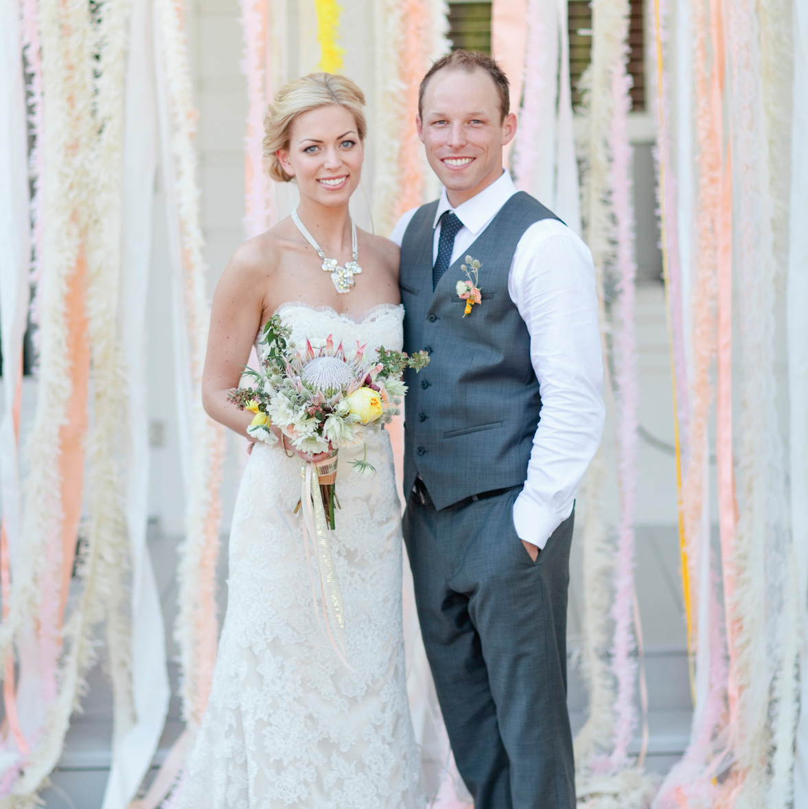 Celebrity Wedding Etiquette: A Whimsical Yellow Wedding In California