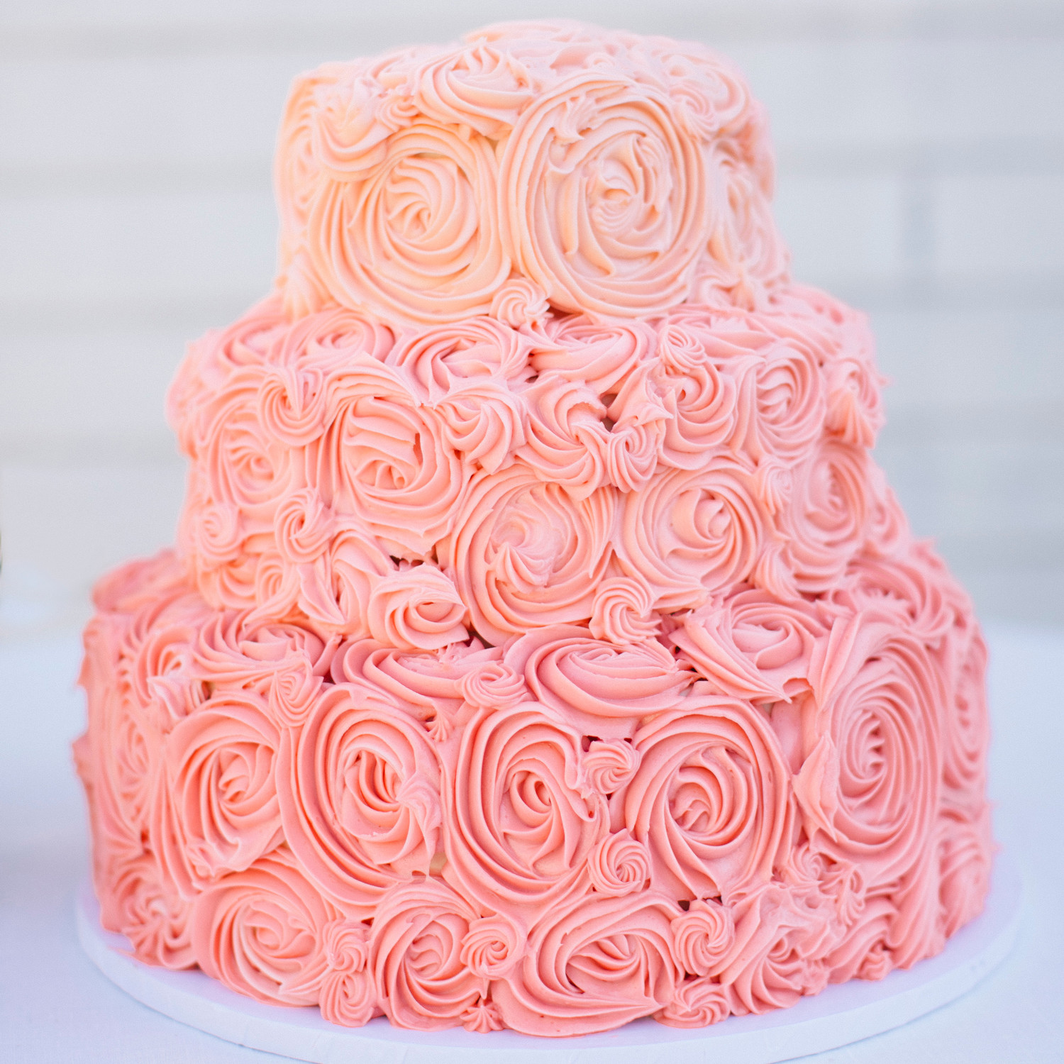 Pink and Red Wedding Cakes