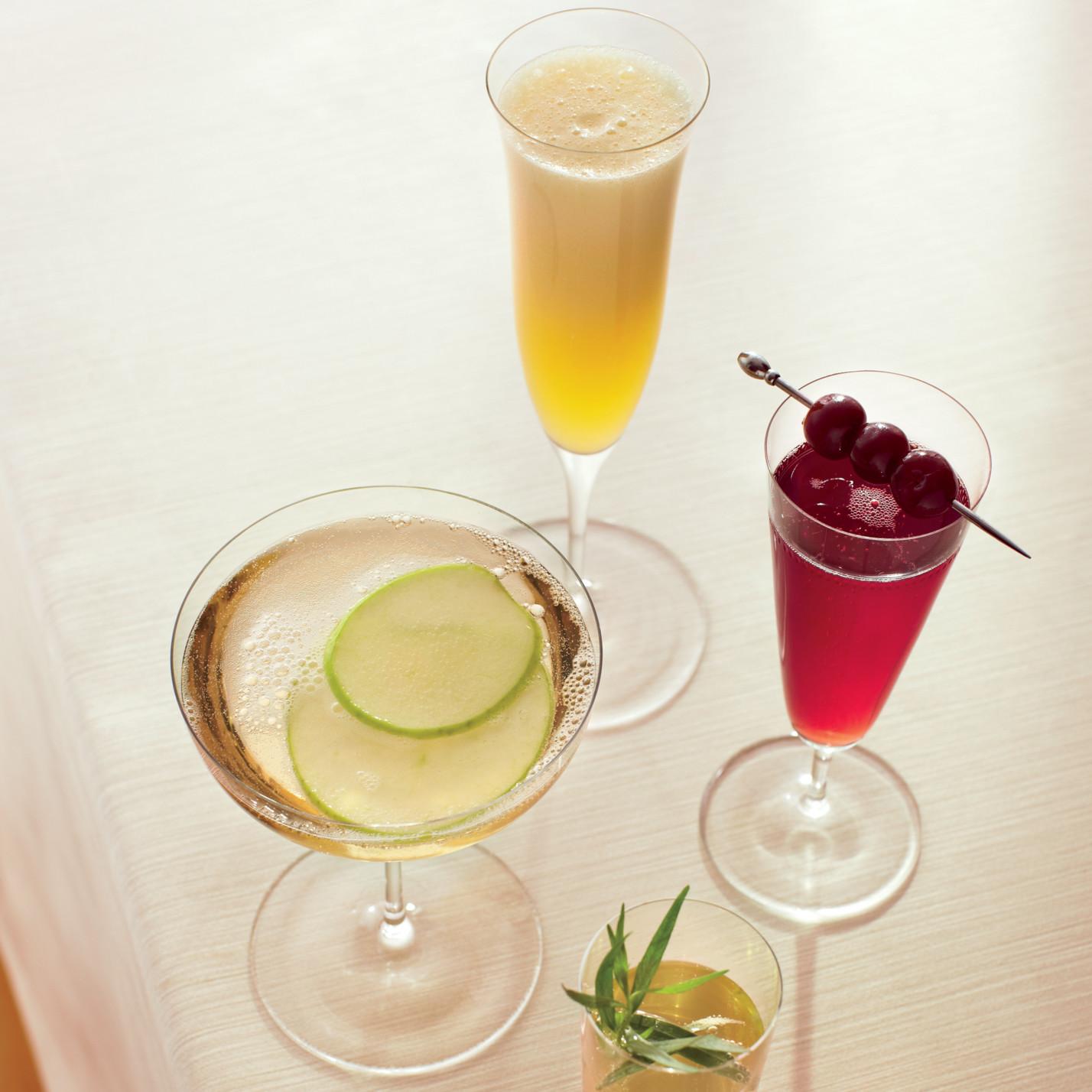 champagne cocktail recipes for a bridal shower martha stewart weddings