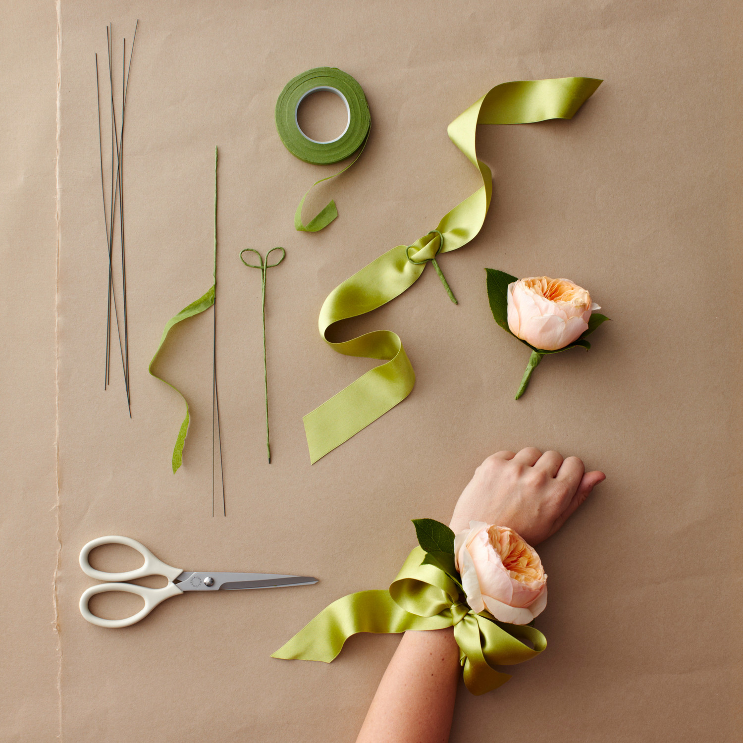 How to make a corsage wristlet
