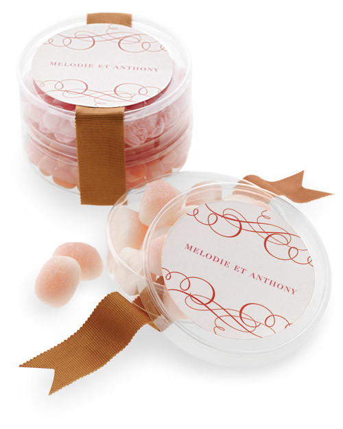 Edible Wedding Favors Ideas: Customizable Candy Labels