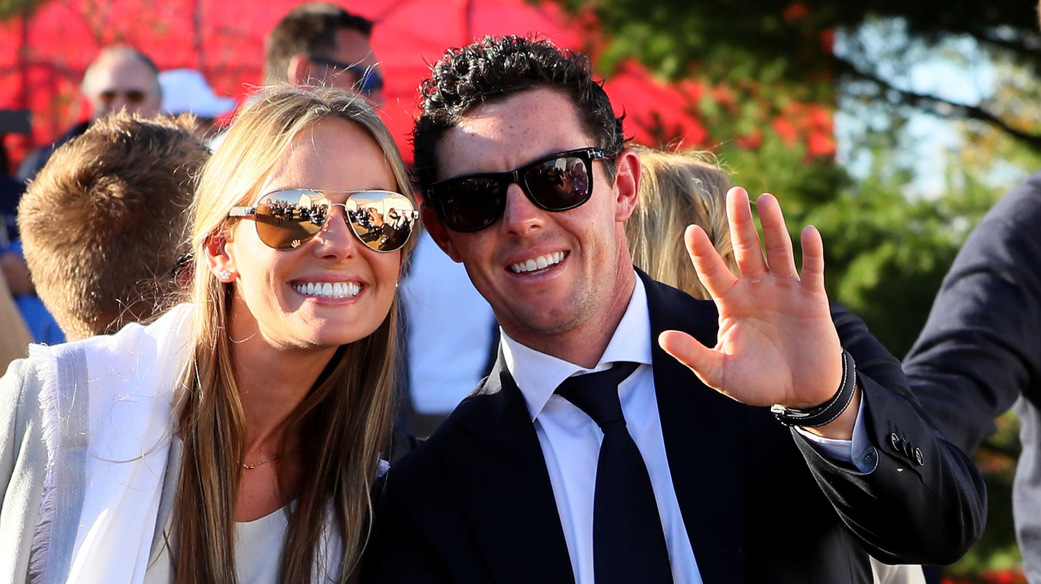professional golfer rory mcilroy and erica stoll are