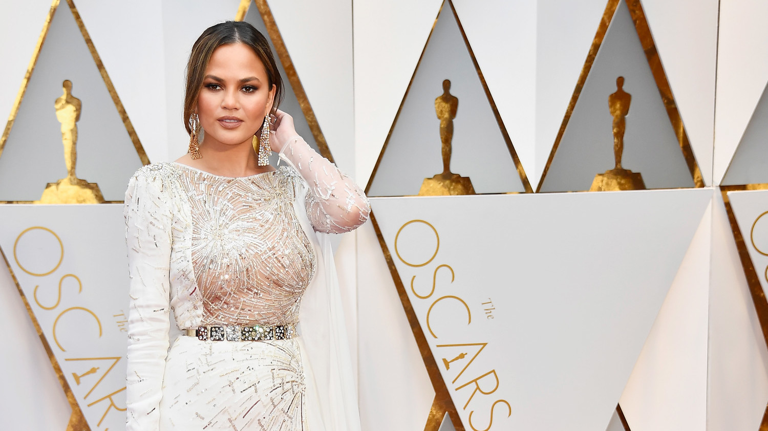 Chrissy teigen opens up about postpartum depression and for Postpartum dresses for wedding