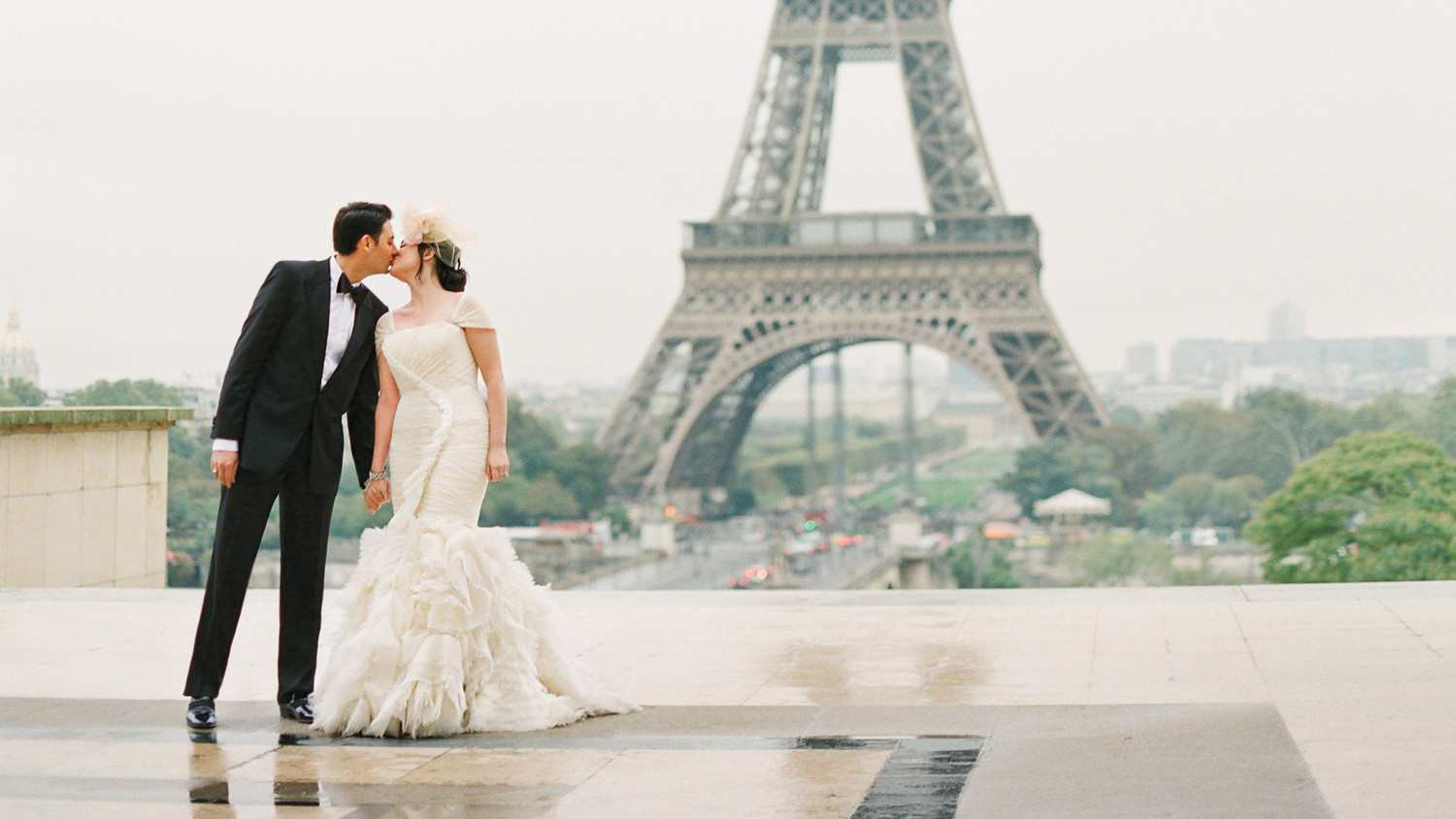 A French-Themed Destination Wedding in Paris | Martha Stewart Weddings