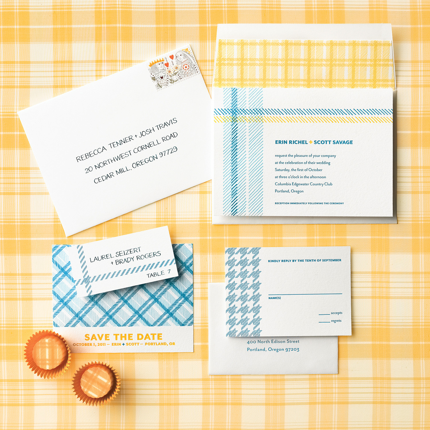 Fabric-Inspired Wedding Invitations | Martha Stewart Weddings