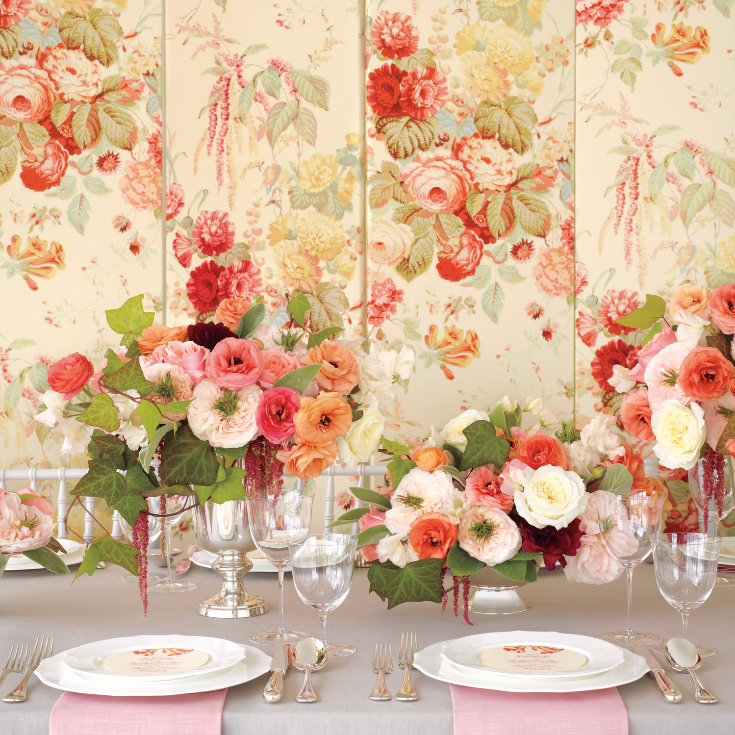 flower decorations for a wedding floral fabric inspired wedding ideas martha stewart weddings 4161