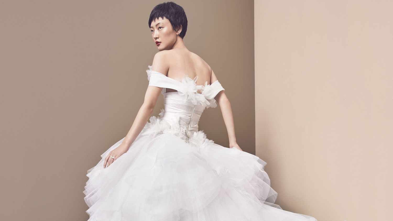 ball gown back tulle marchesa