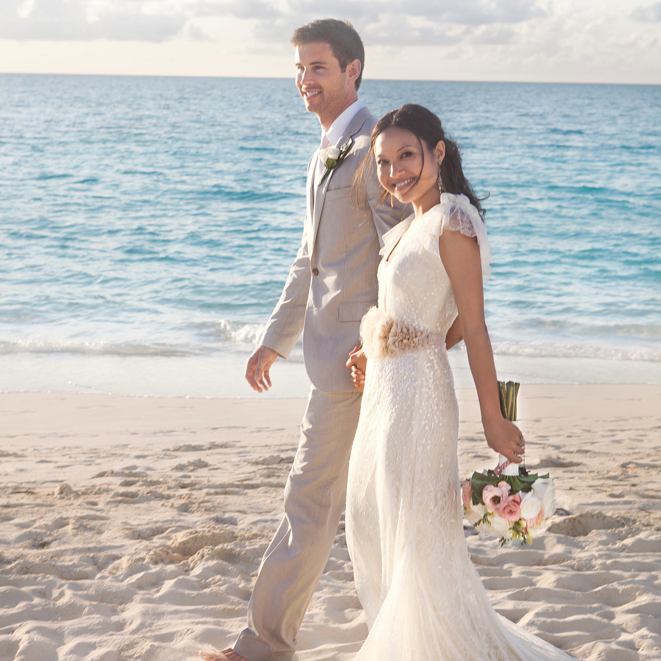 A Romantic Vintage Destination Wedding in Turks and Caicos | Martha ...