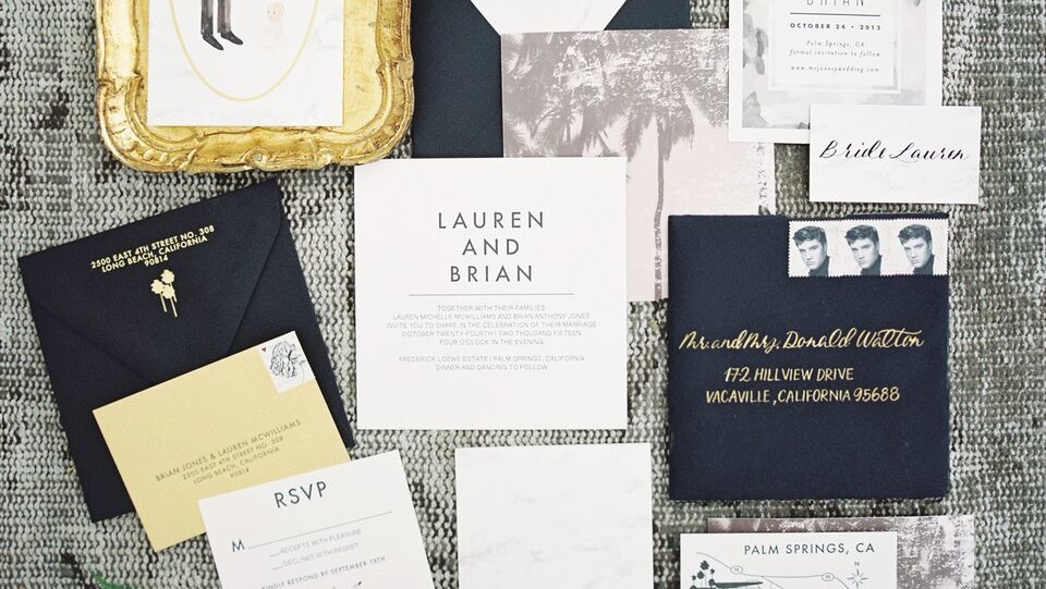 Fall Wedding Invitations from Real Weddings | Martha Stewart Weddings