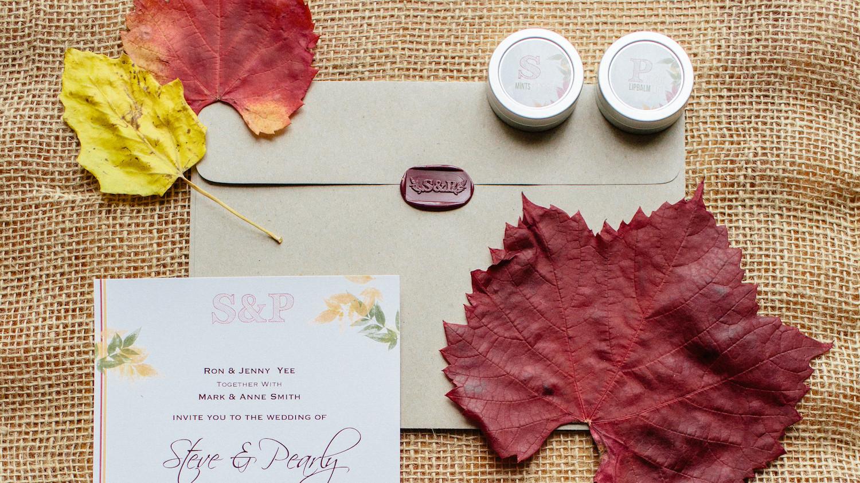 Martha Stewart Wedding Invitation: 37 Fall Wedding Invitations From Real Weddings