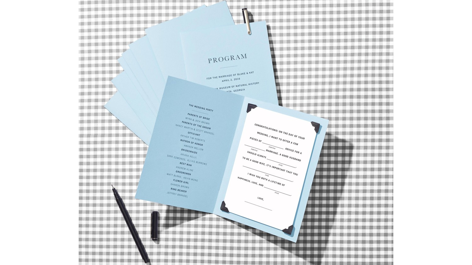 Make your wedding programs more fun with mad libs martha stewart make your wedding programs more fun with mad libs martha stewart weddings maxwellsz
