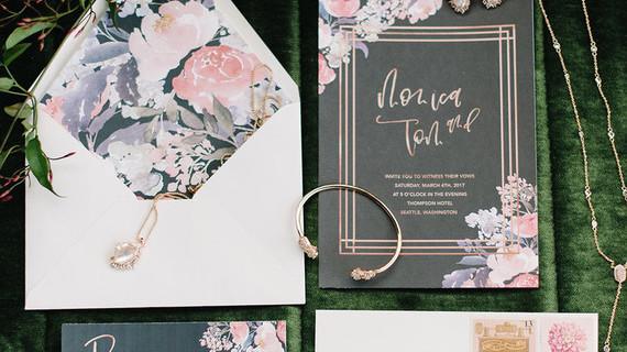 Martha Stewart Wedding Invitation: Gorgeous Floral Wedding Invitations