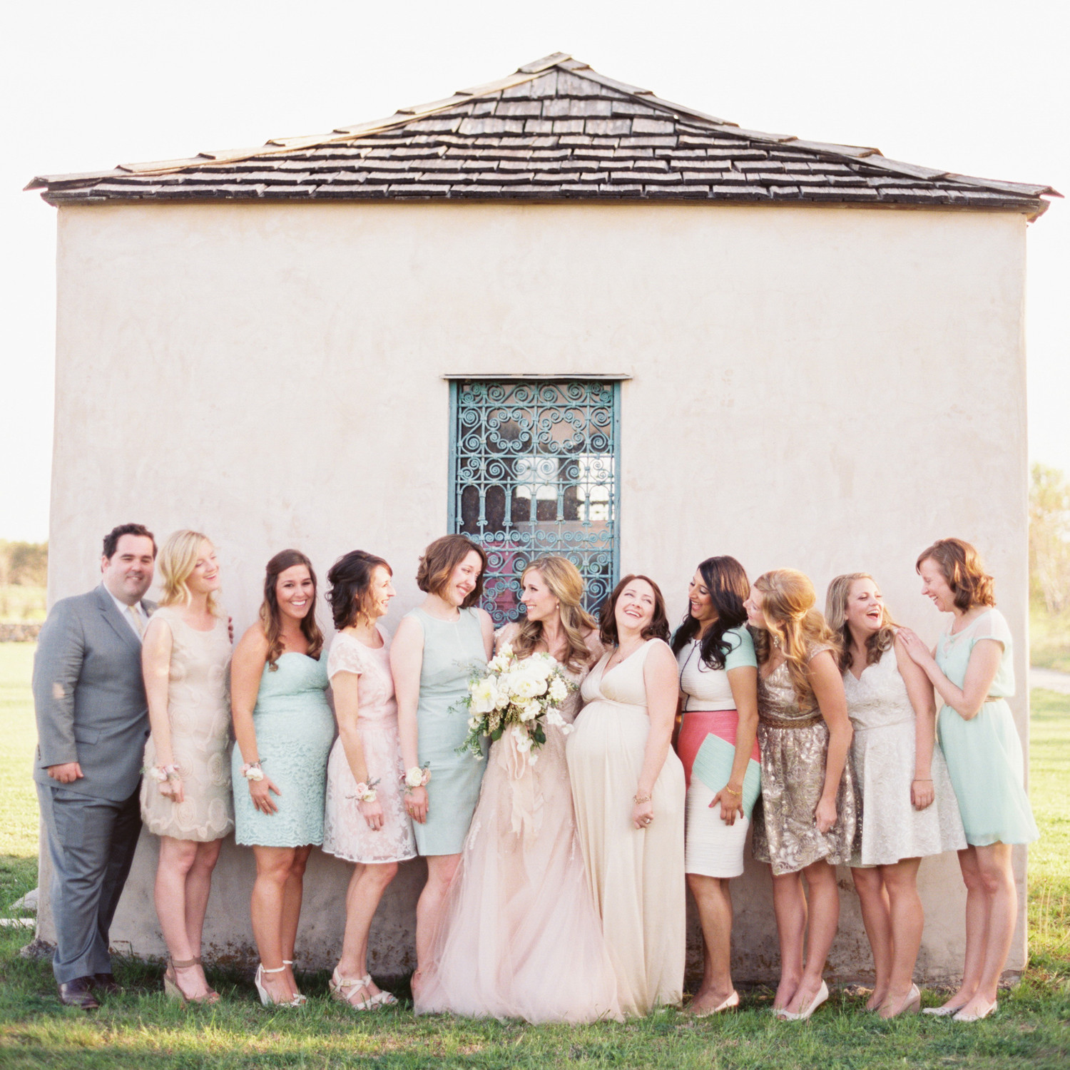 28 Mismatched Bridesmaids Dresses from Real Weddings - Best Mix and ...