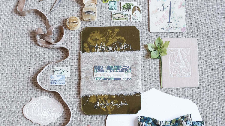 Martha Stewart Wedding Invitation: Vintage Wedding Invitations