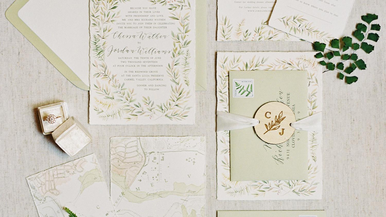 Martha Stewart Wedding Invitation: 25 Of The Prettiest Green Wedding Invitations