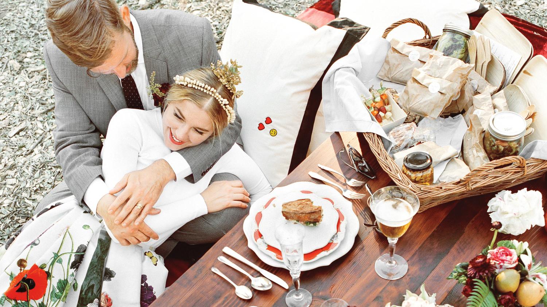 Martha Stewart Weddings: Petra And Marc's Chic Picnic Wedding In Santa Barbara