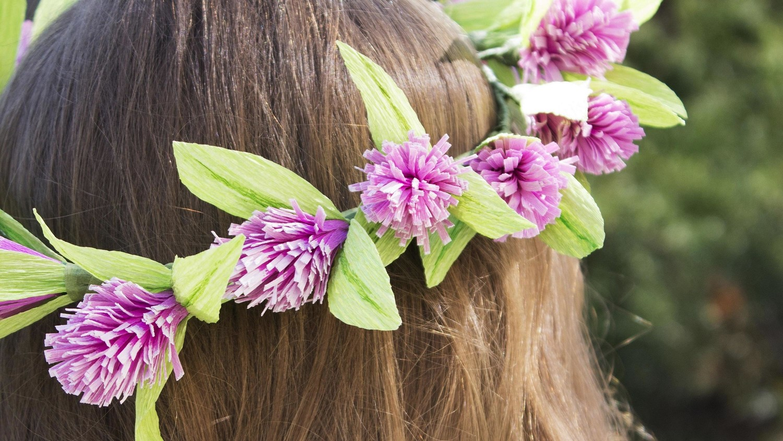 Diy paper flower crown martha stewart weddings mightylinksfo