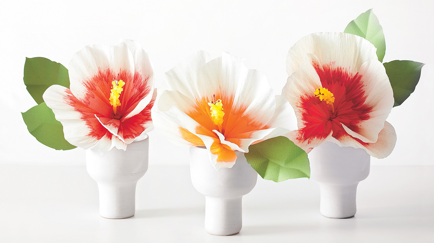 How To Make Paper Flowers Hibiscus Martha Stewart Weddings