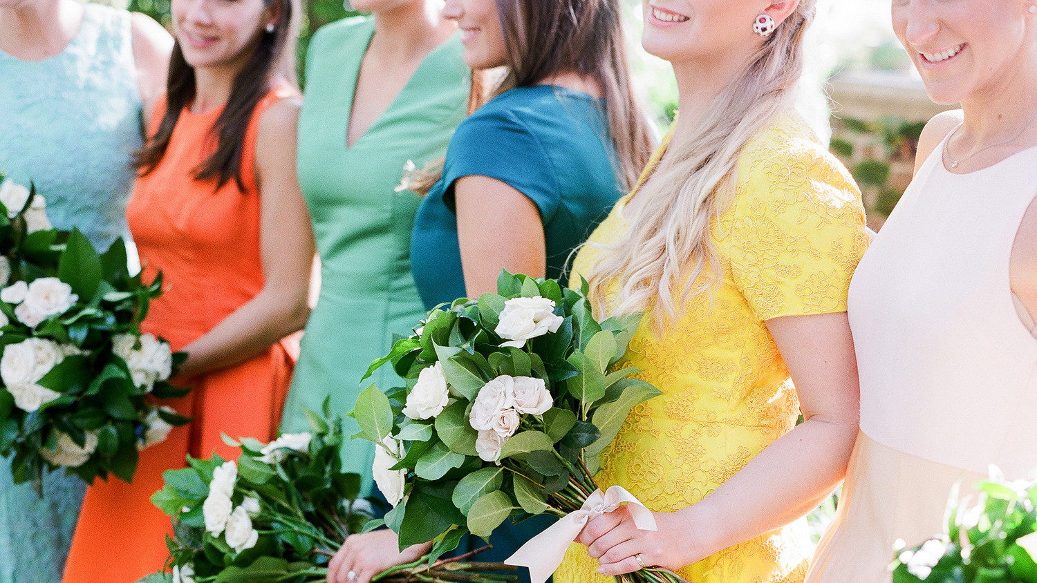 28 Mismatched Bridesmaids Dresses From Real Weddings