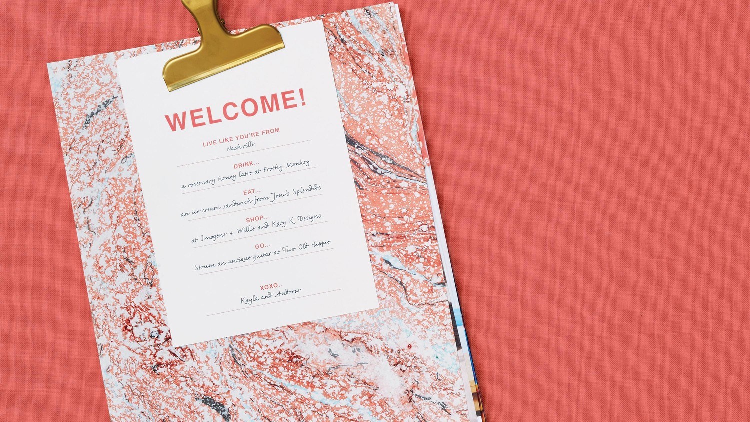 DIY Personalized Wedding Welcome Packet | Martha Stewart Weddings
