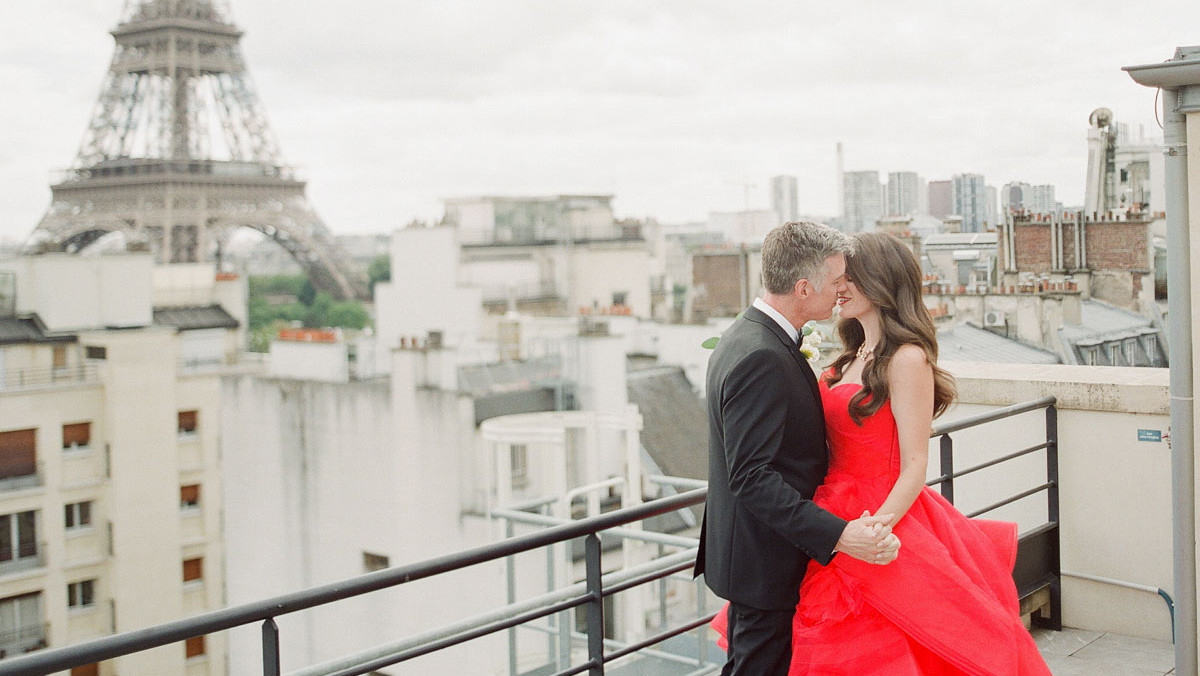 A Glamorous Destination Wedding in Paris | Martha Stewart Weddings