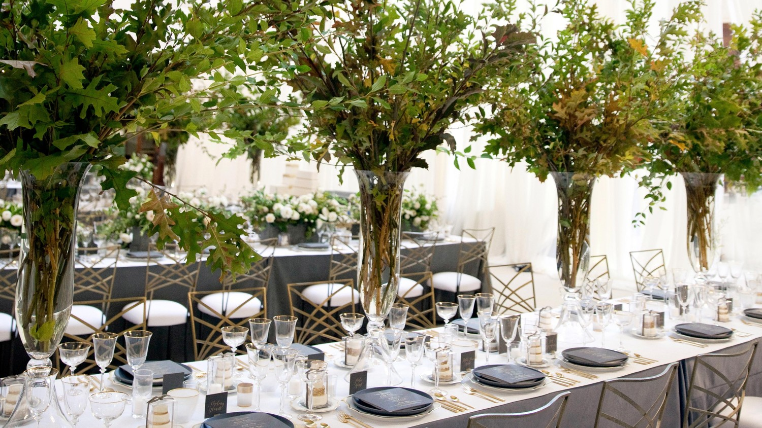Martha Stewart Weddings: Tall Centerpieces That Will Take Your Reception Tables To