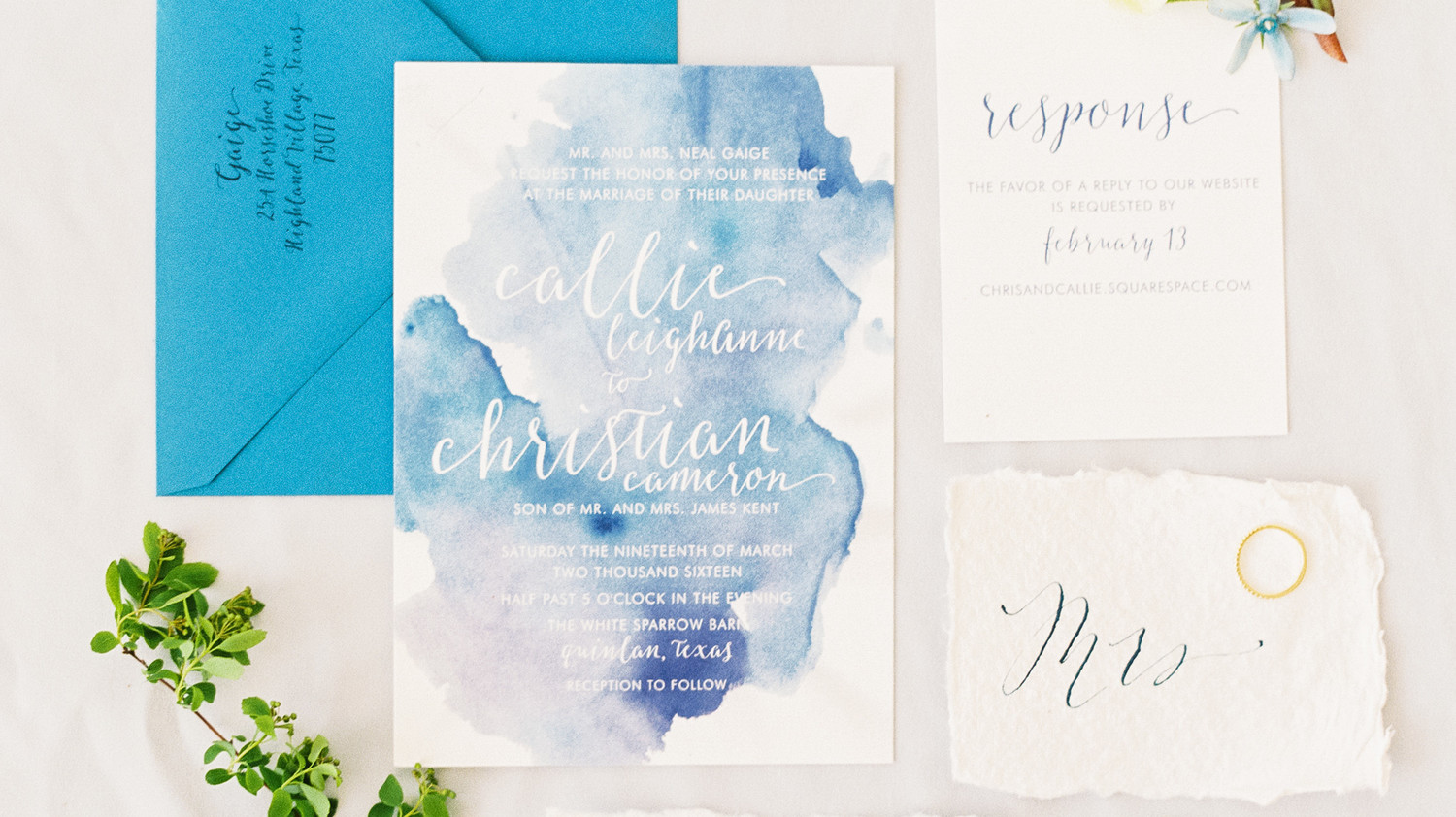 The Loveliest Watercolor Wedding Invitations Martha Stewart Weddings