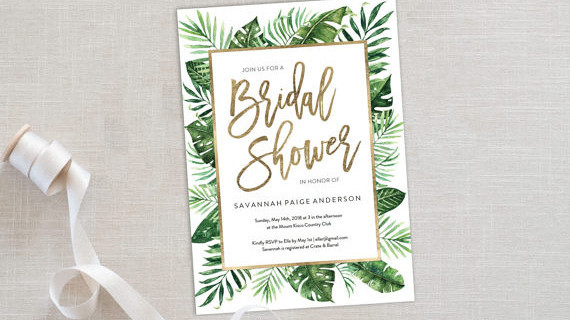 10 Affordable Bridal Shower Invitations You Can Print At Home Martha Weddings
