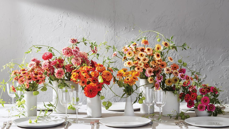 5 stunning ways to use zinnias in your wedding martha
