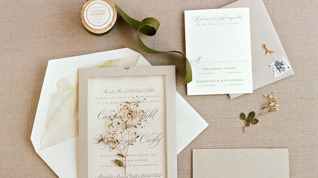 An Eco-Friendly Guide to Wedding Invitations and Stationery | Martha ...