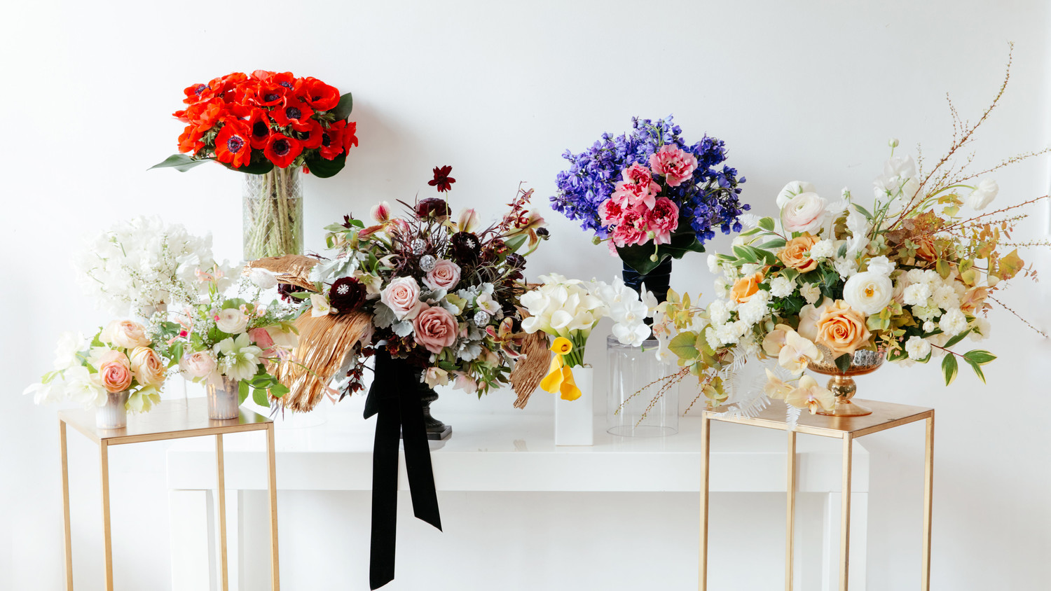 Floral arrangements images Birthday Colorful Floral Arrangements Inspired By 2017 Oscar Looks Martha Stewart Weddings Stunning Floral Arrangements Inspired By The 2017 Oscar Red Carpet