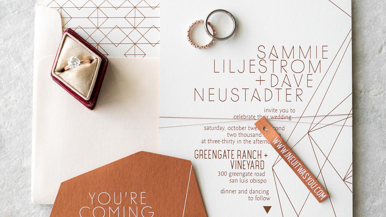 Martha Stewart Wedding Invitation: 28 Geometric Wedding Invitations With An Edge