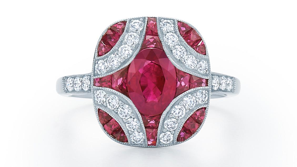 34 royal ruby engagement rings martha stewart weddings junglespirit Image collections