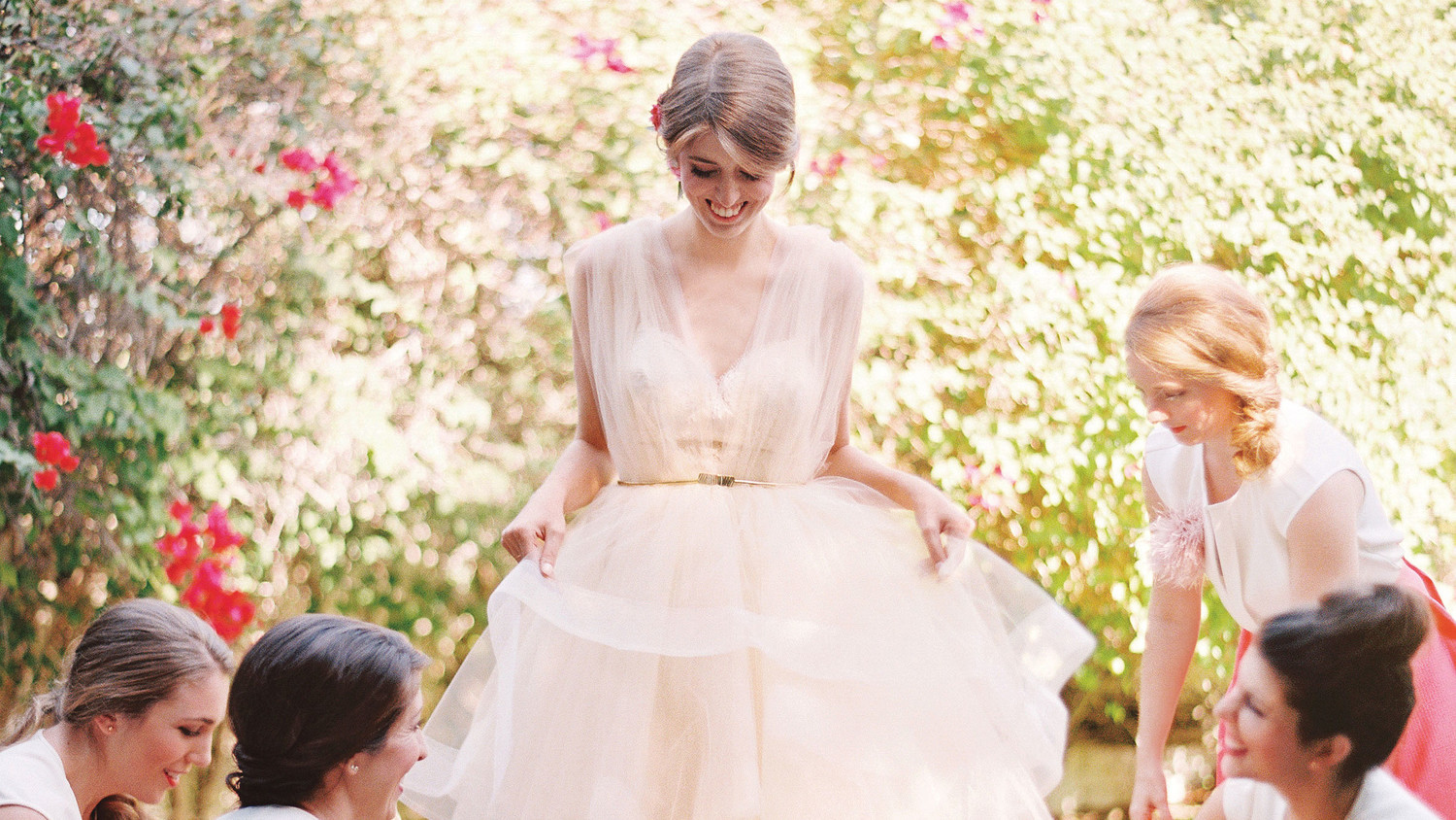 16 Pretty In Pink Wedding Dresses Martha Stewart Weddings