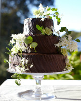 chocolate buttercream wedding cake