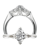Marquise-Cut Center Diamond Flanked by Pear Diamonds