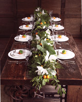 Clementine and Leaf Wedding Centerpiece