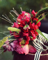 Red and Green Wedding Bouquet