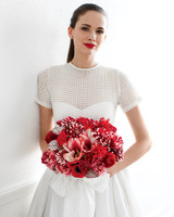 Modern Red Wedding Bouquet
