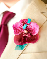 orchid wedding boutonniere