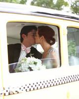taxi wedding getaway